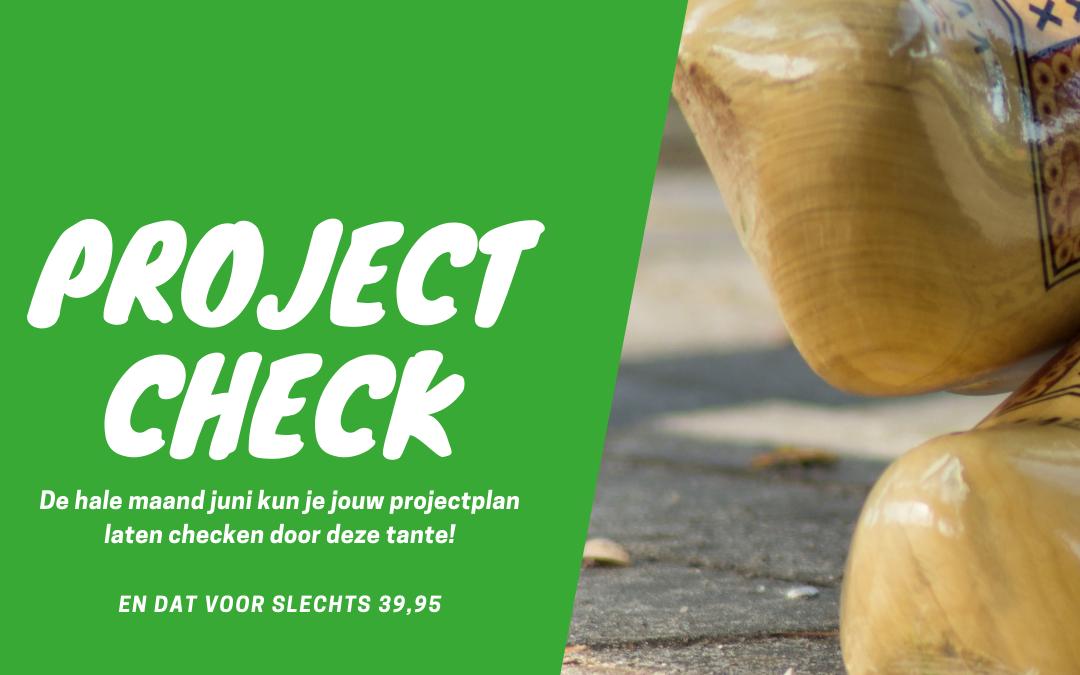 Speciale juni actie: laat je projectplan checken